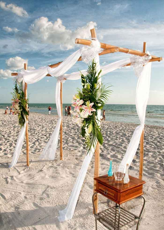 Four Post Bamboo Wedding Package from Weddings Made Simple | Weddings Made Simple of Florida DISC Temperament Assessment, Pre and Post Marriage Coaching, Wedding Officiants and Wedding Ministers Naples Florida