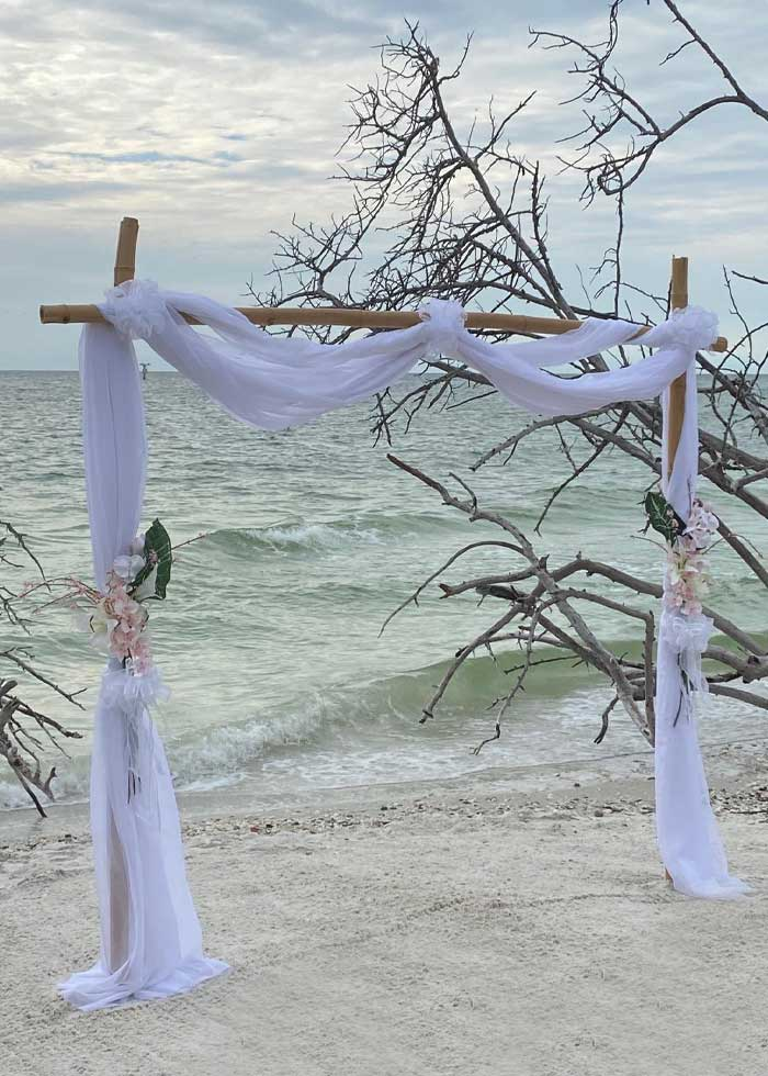 Two Post Bamboo Wedding Package from Weddings Made Simple | Weddings Made Simple of Florida DISC Temperament Assessment, Pre and Post Marriage Coaching, Wedding Officiants and Wedding Ministers Naples Florida